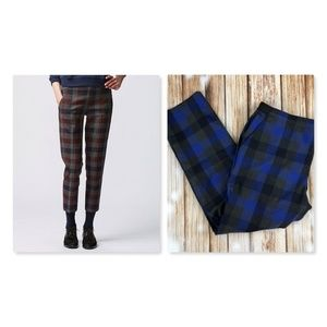 Uniqlo Checkered Blue Plaid Ankle Pants Size XL